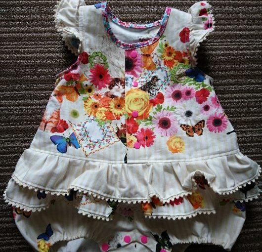 ロンパース(ベビードレス)の手作り!ハンドメイド子供服